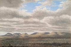 """""""Op die pad tussen Pearston en Graaff-Reinet"""", oil on canvas, 30x30cm."""