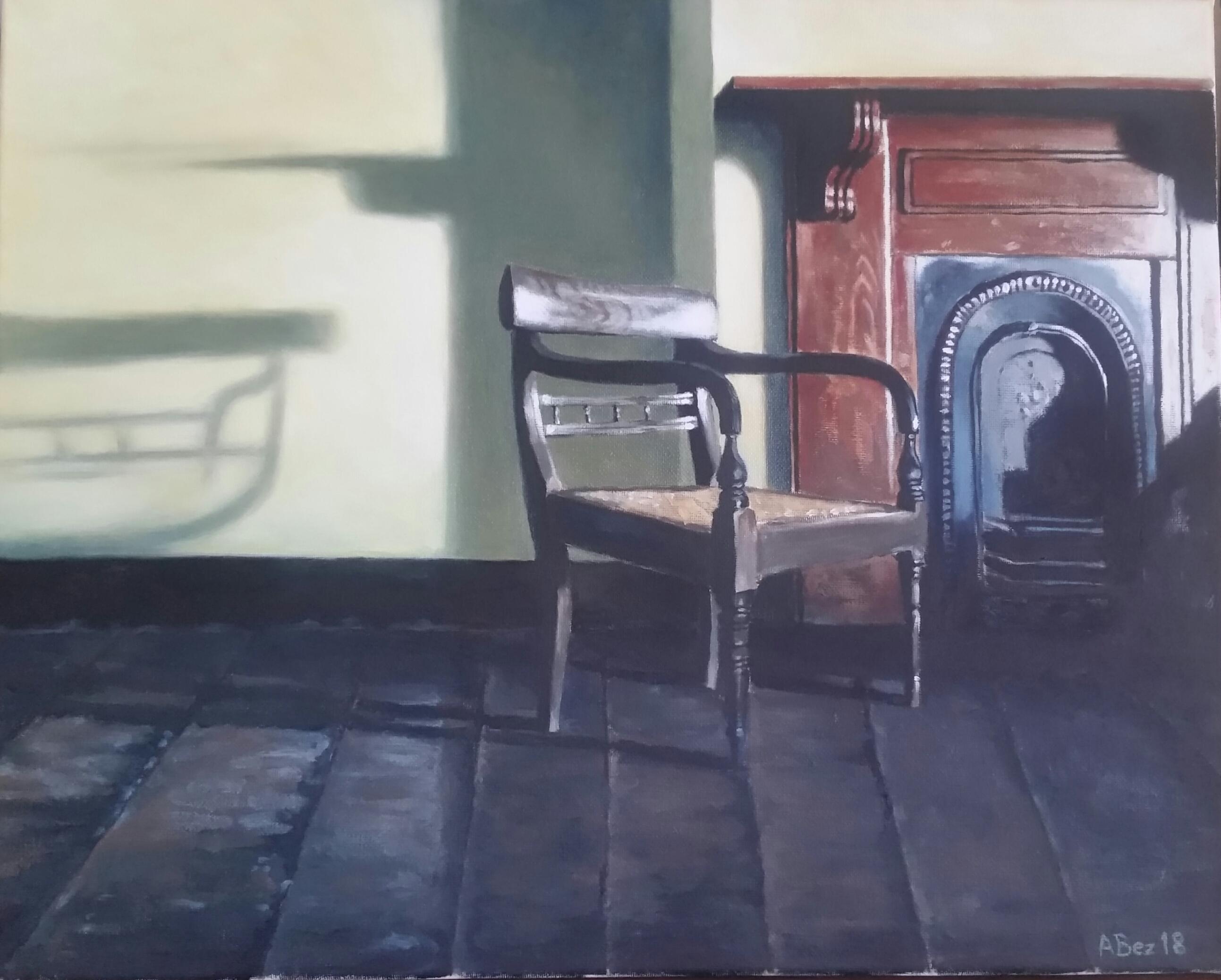 """""""Schreiner huis voorkamer, Cradock"""", olie op doek, 400x500mm"""