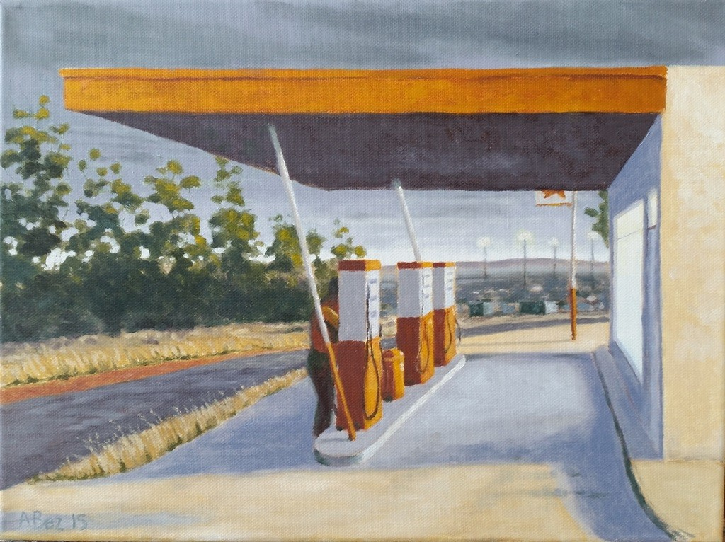 """Brandstof"" [Fuel], oil on canvas, 30x40cm"